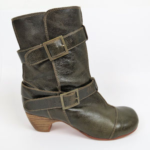 Gee WaWa Anthropologie | Green Strappy Boots